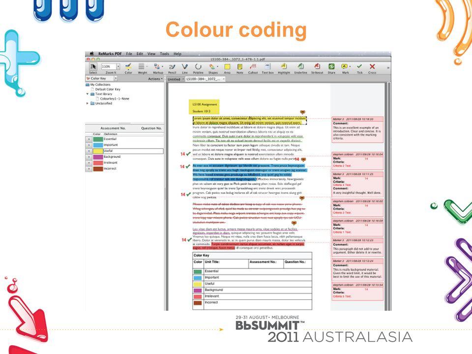 Colour coding