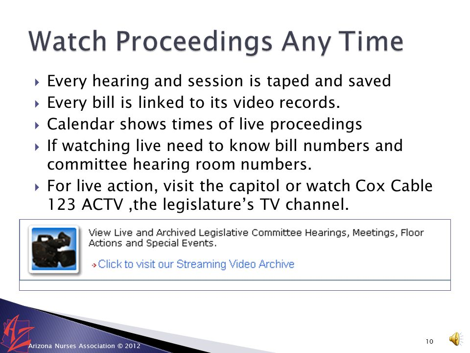 Testify at a Committee Hearing from anywhere. 1.