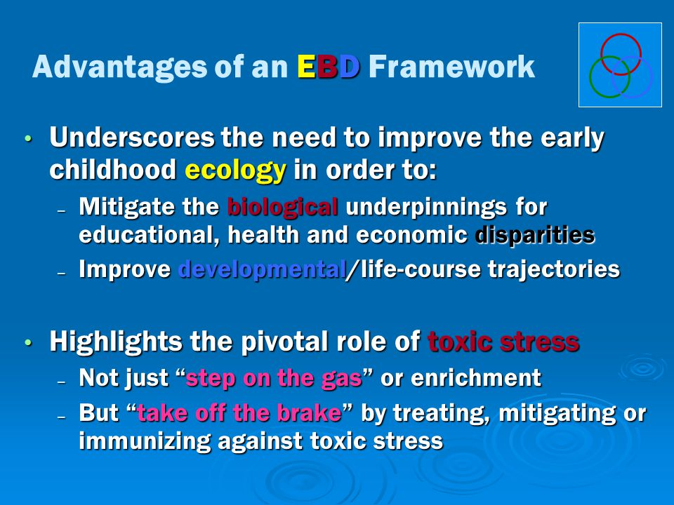Underscores the need to improve the early childhood ecology in order to: Underscores the need to improve the early childhood ecology in order to: – Mi