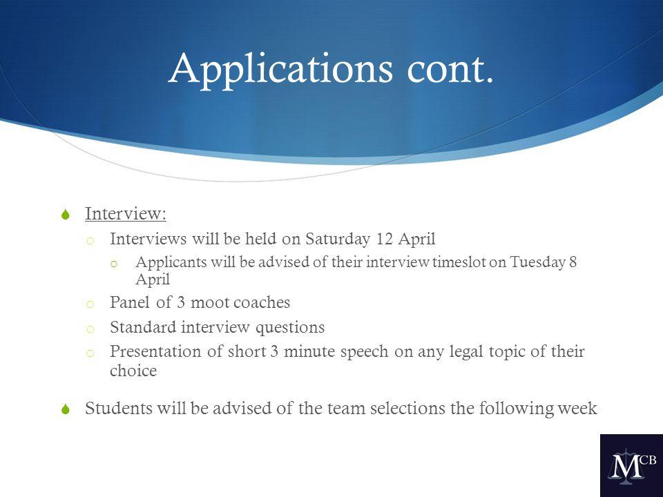 Applications cont.