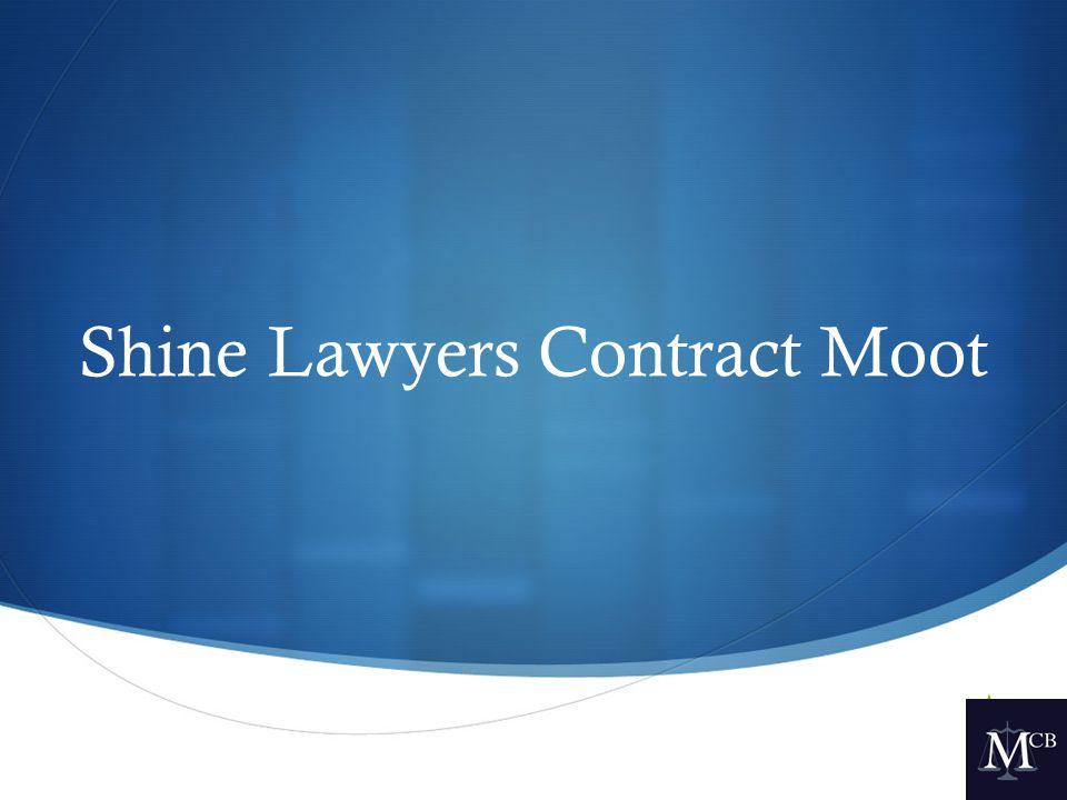  Shine Lawyers Contract Moot
