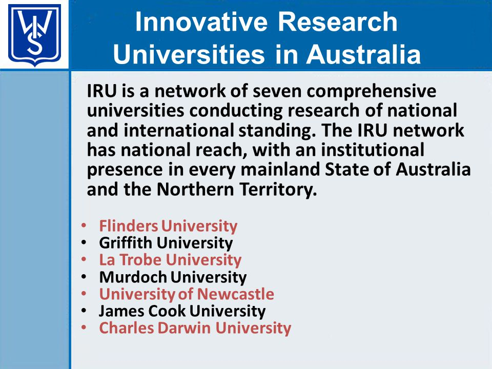 IRU is a network of seven comprehensive universities conducting research of national and international standing.