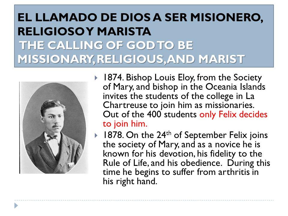 MINISTERIO SACERDOTAL DE P.FÉLIX Y SU VIDA RELIGIOSA EN LOS AÑOS DE PREPARACION PARA SER MSPS FR.