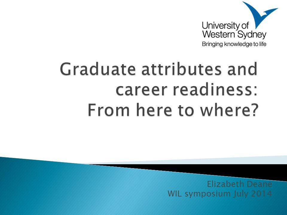 Elizabeth Deane WIL symposium July 2014