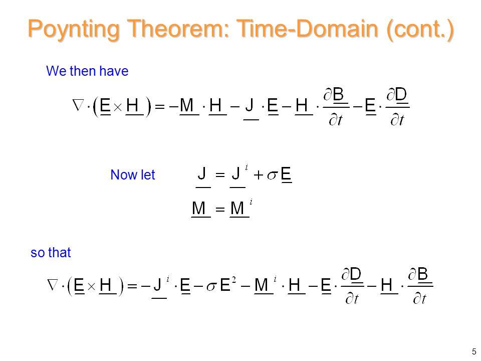 Maxwell Stress Tensor (cont.) A = 1 m 2 TEM z wave Assume 46 z x