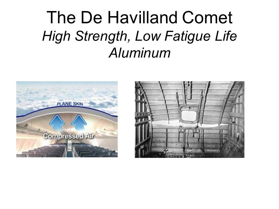 The De Havilland Comet High Strength, Low Fatigue Life Aluminum