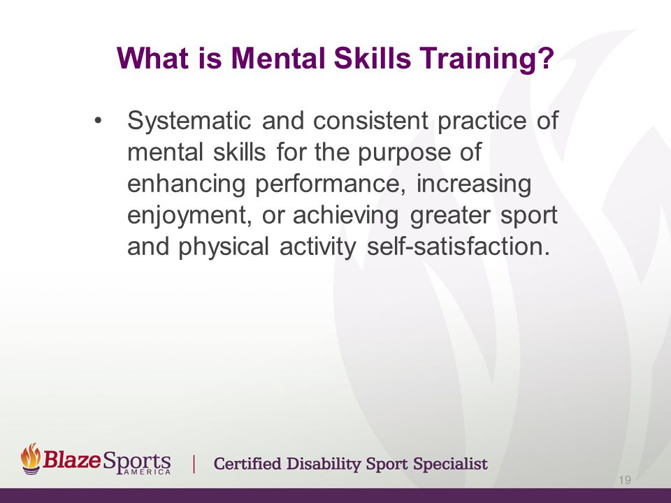 What is Mental Skills Training.