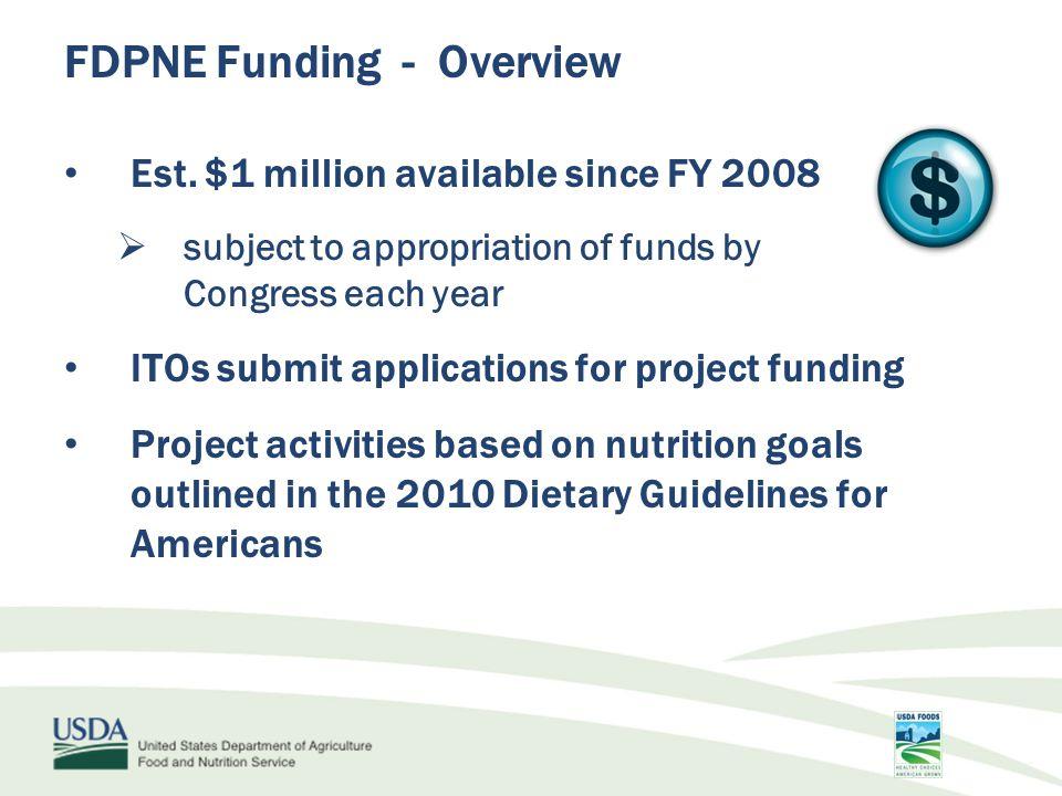FDPNE Funding - Overview Est.