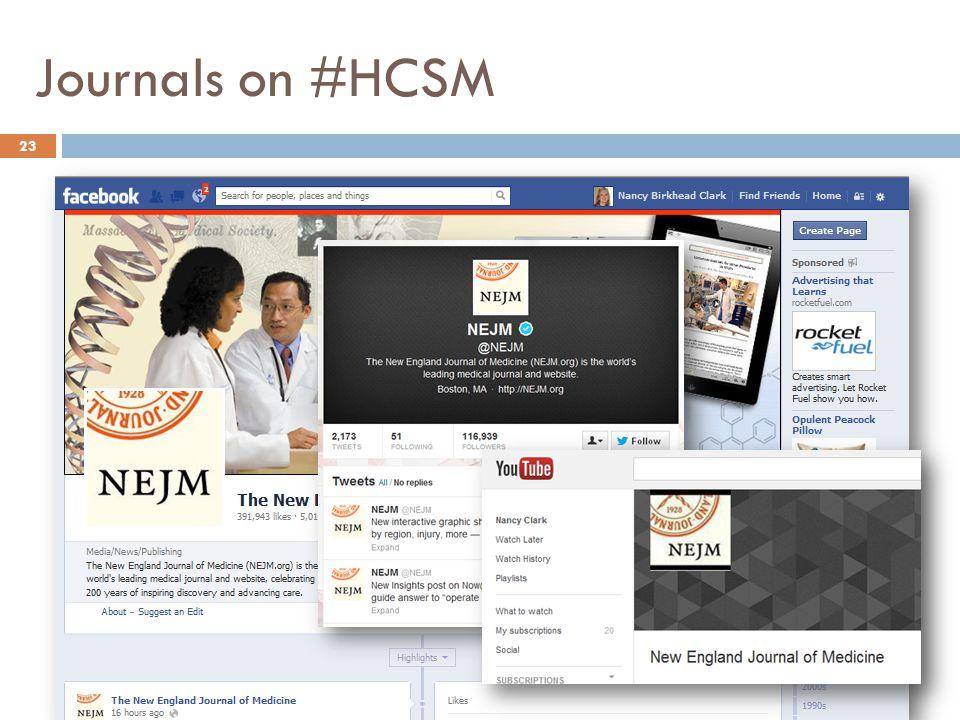 Journals on #HCSM 23