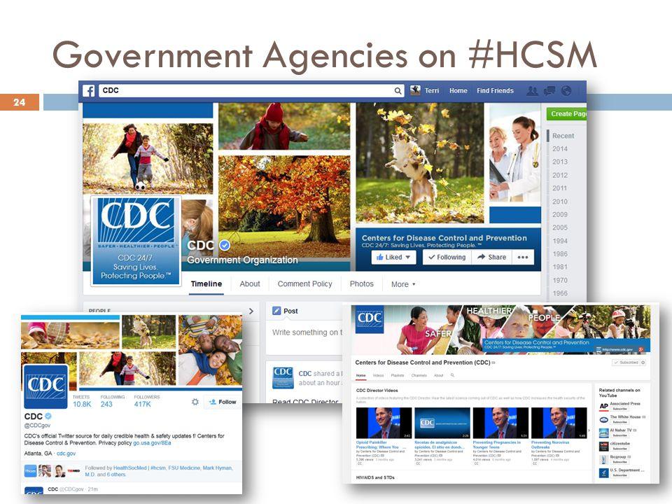 Government Agencies on #HCSM 24