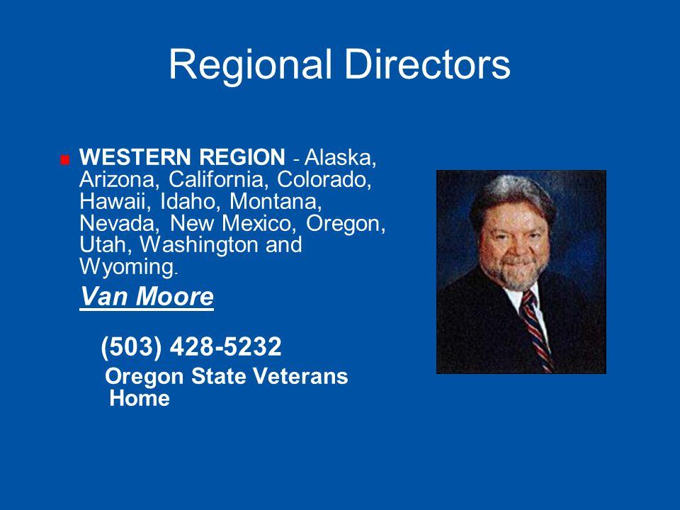 Regional Directors WESTERN REGION - Alaska, Arizona, California, Colorado, Hawaii, Idaho, Montana, Nevada, New Mexico, Oregon, Utah, Washington and Wy