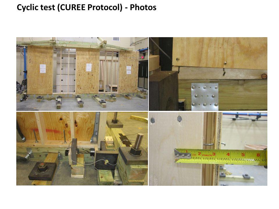 Cyclic test (CUREE Protocol) - Photos