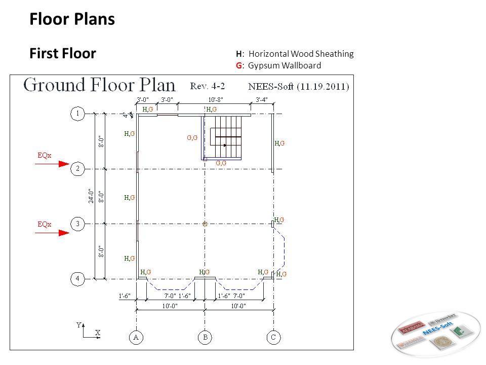 Typical Floor H: Horizontal Wood Sheathing G: Gypsum Wallboard Floor Plans