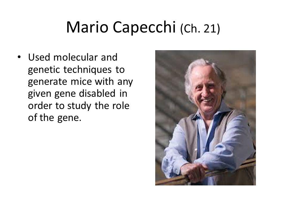 Mario Capecchi (Ch.
