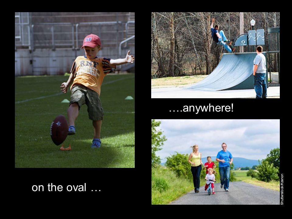 on the oval … ….anywhere! Shutterstock/Kzenon