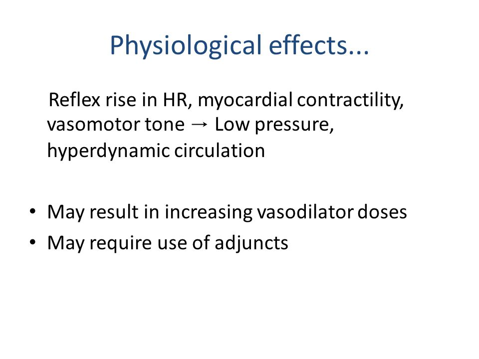 Physiological effects...