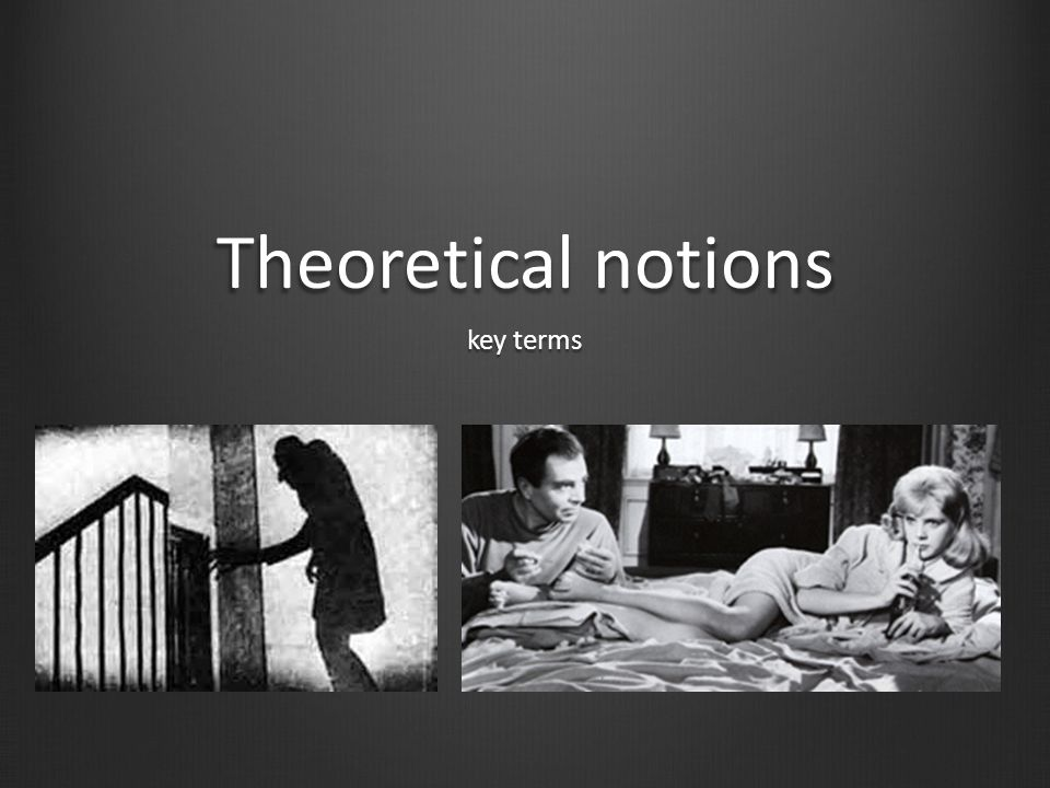 Theoretical notions key terms
