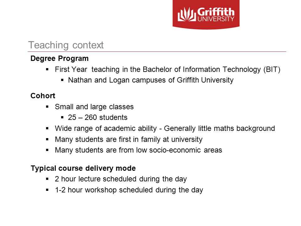 Teaching context Courses: Web design and development (HTML, CSS, Javascript)  Computer program code (Web pages)  Technical and non-technical design diagrams  Learning how to use software applications Computer architecture  Mathematics and technical jargon  Technical design diagrams