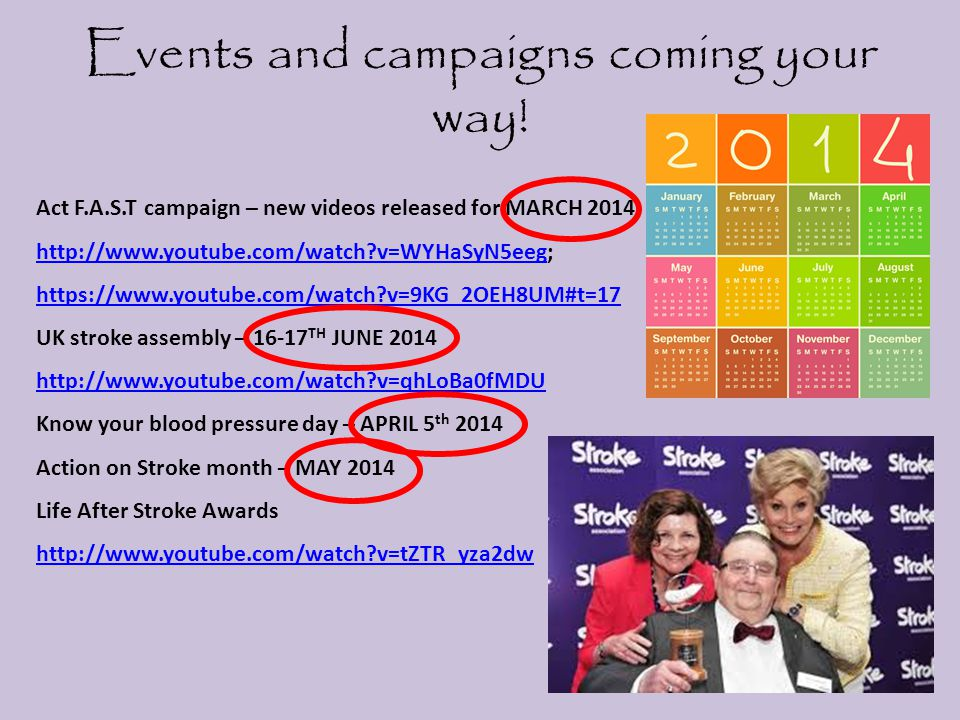 Events and campaigns coming your way.