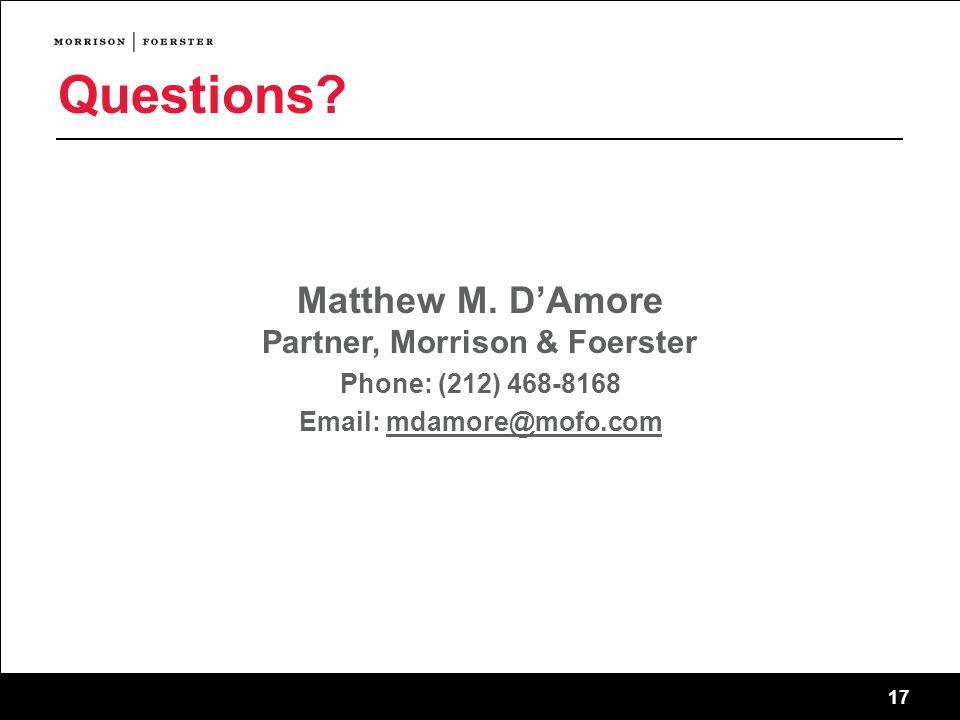 17 Questions. Matthew M.