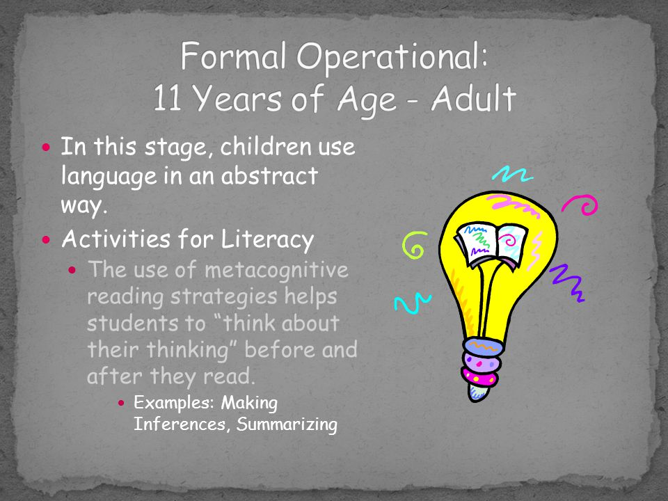 Formal Operational Video