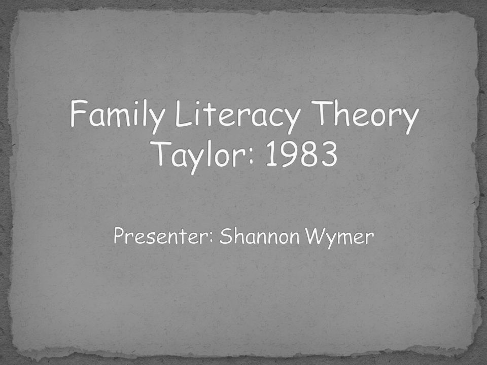 Refers to a series of ideas that researchers share, including the design, implementation, and evaluation of programs to help facilitate literacy development of family members; the relationship between family literacy and student achievement; and the ways in which literacy is naturally used in the home.
