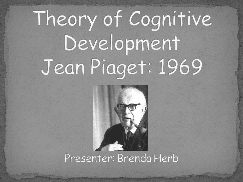 One of the most famous theories used to explain children's overall cognitive development.