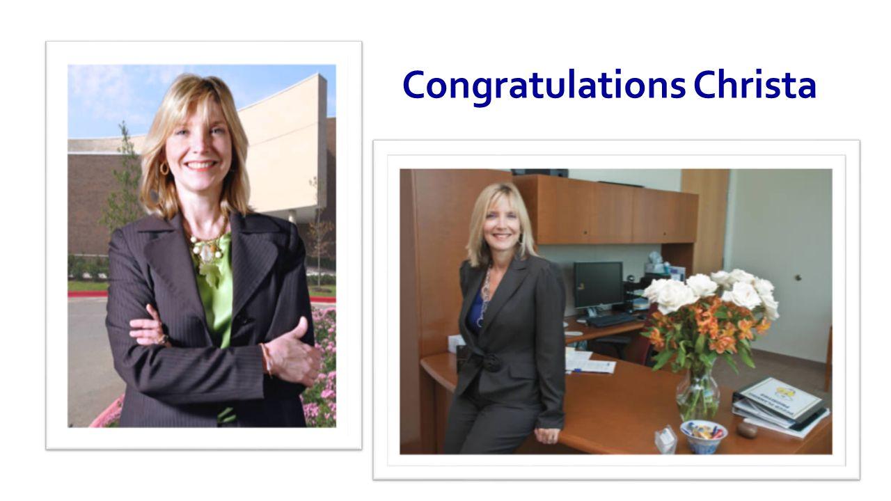 Congratulations Christa