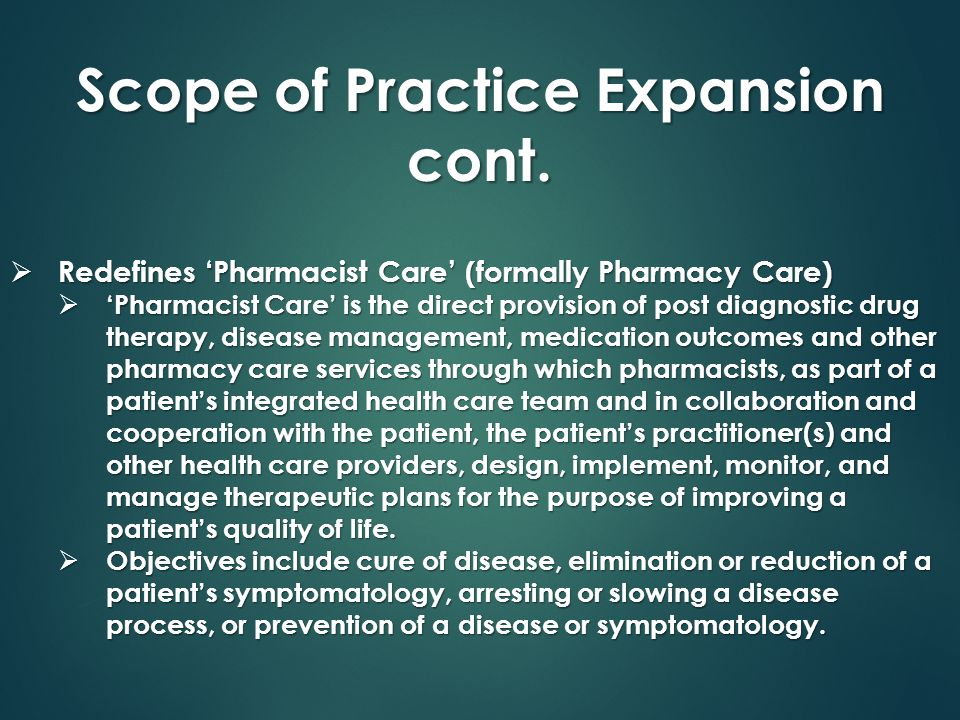Scope of Practice Expansion cont.