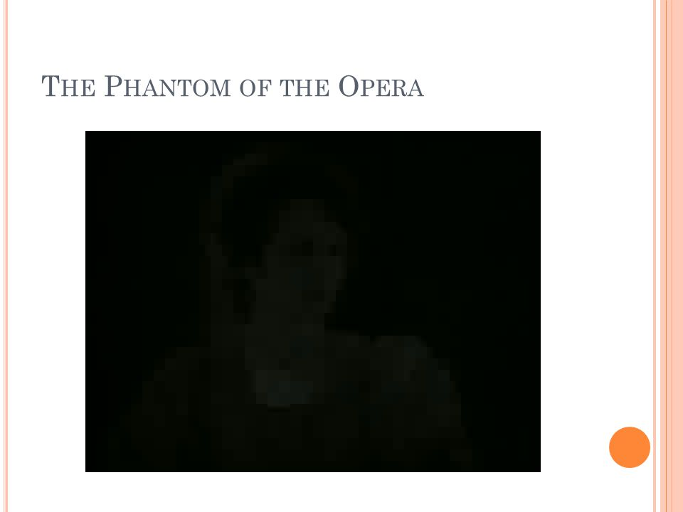 T HE P HANTOM OF THE O PERA
