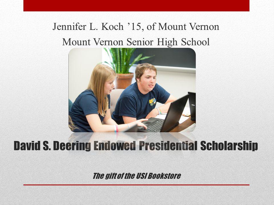 Susan R.Enlow Endowed Presidential Scholarship The gift of Susan R.