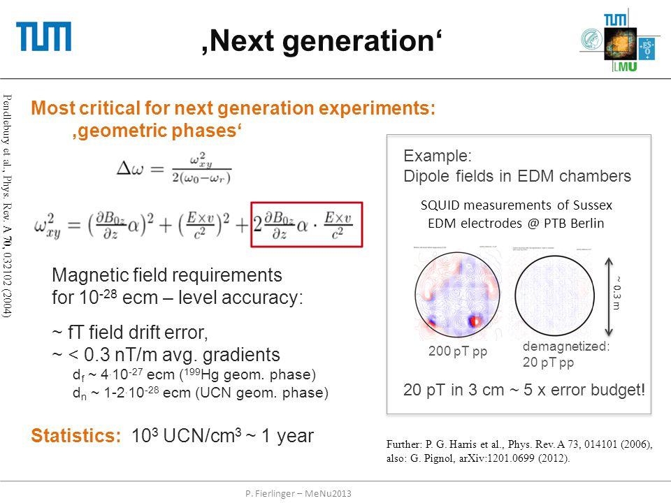 'Next generation' Pendlebury et al., Phys. Rev. A 70, 032102 (2004) Further: P. G. Harris et al., Phys. Rev. A 73, 014101 (2006), also: G. Pignol, arX