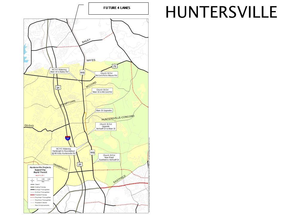 HUNTERSVILLE FUTURE 4 LANES