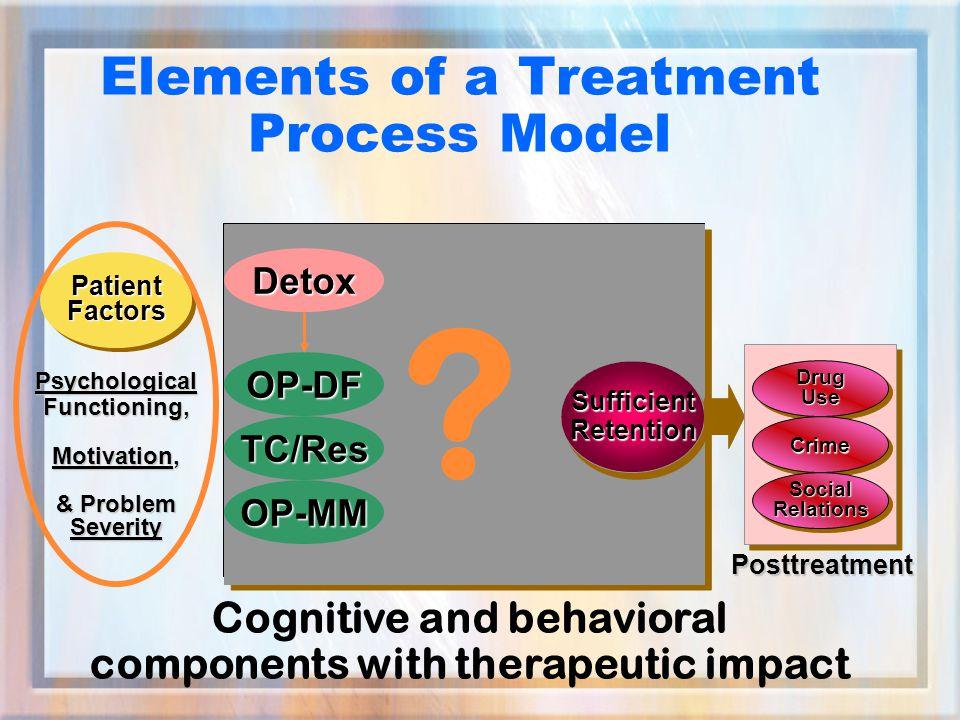 Elements of a Treatment Process Model SufficientRetentionSufficientRetention .