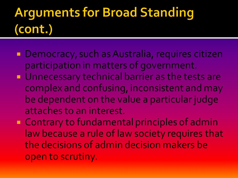  Democracy, such as Australia, requires citizen participation in matters of government.