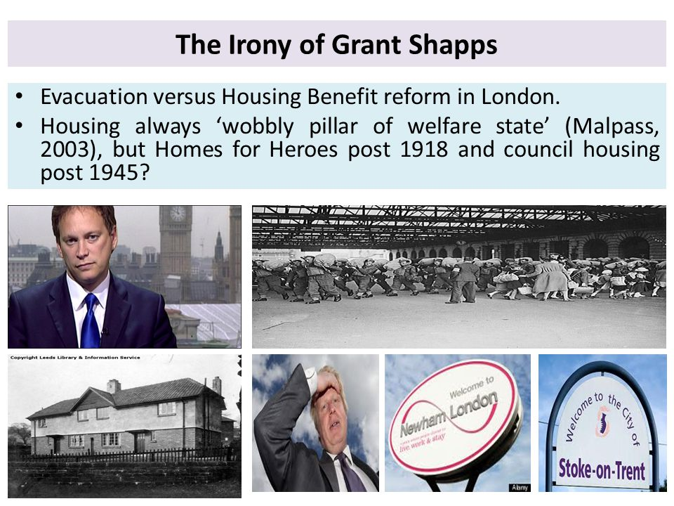 The Irony of Grant Shapps Evacuation versus Housing Benefit reform in London.