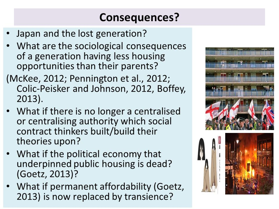 Consequences. Japan and the lost generation.
