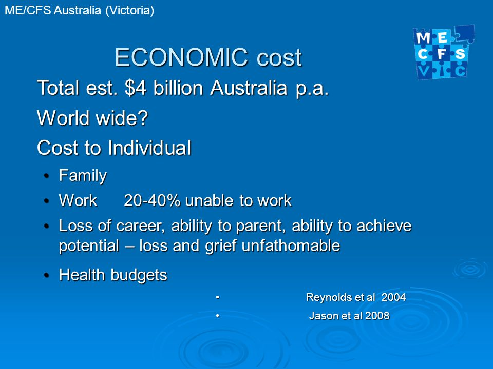 ECONOMIC cost Total est. $4 billion Australia p.a.