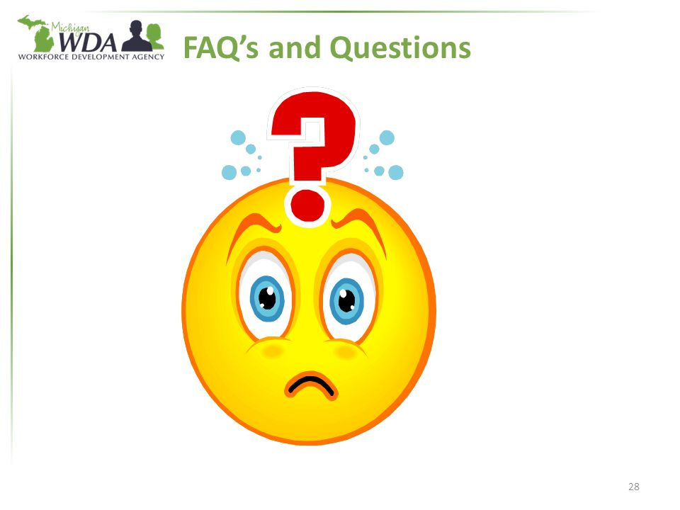FAQ's and Questions 28
