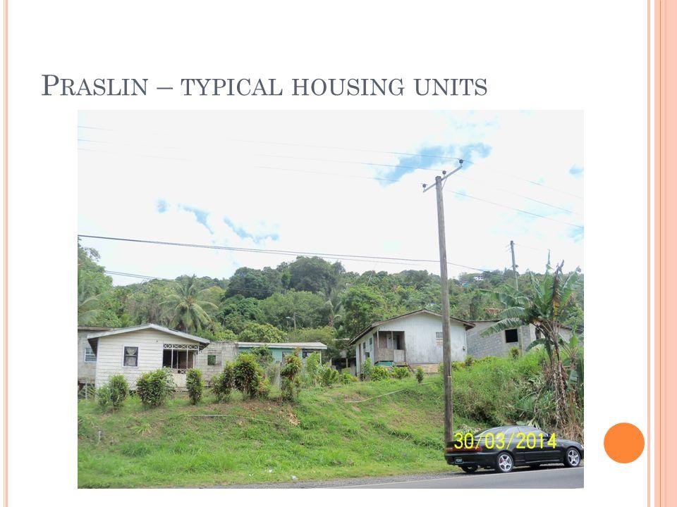 P RASLIN – TYPICAL HOUSING UNITS