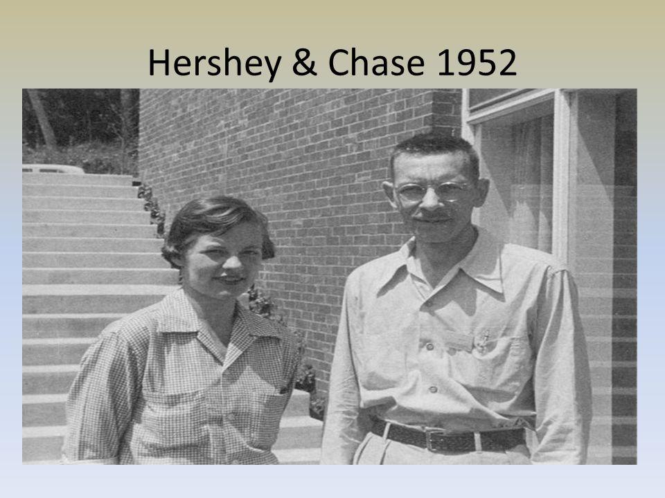 Hershey & Chase 1952