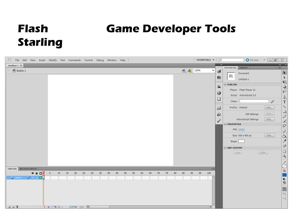 Flash Game Developer Tools Starling
