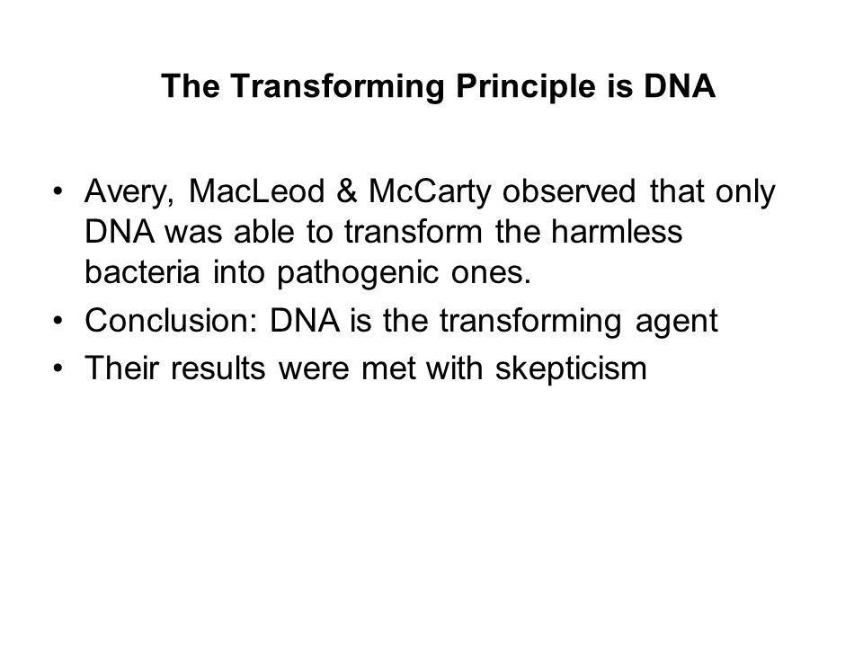 Hershey & Chase Experiment, 1952 Conclusion: DNA, not protein, is the hereditary material