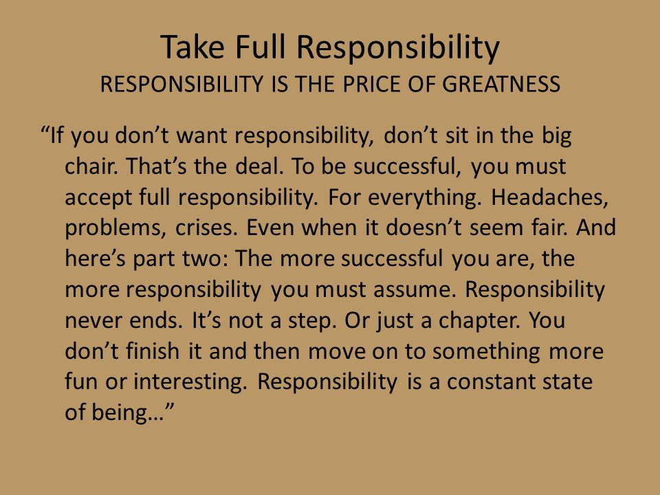 Essay on the price of greatness is responsibility