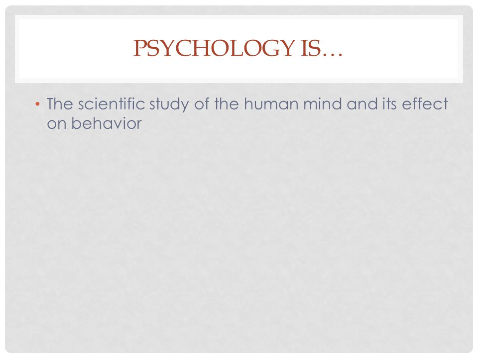 PSYCHOPHYSIOLOGICAL This orientation would study the brain and its structures.