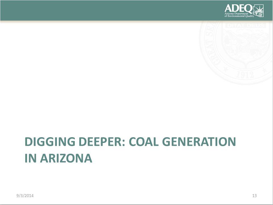DIGGING DEEPER: COAL GENERATION IN ARIZONA 9/3/201413