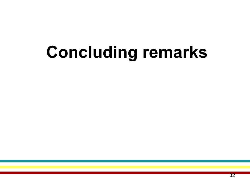 32 Concluding remarks 32