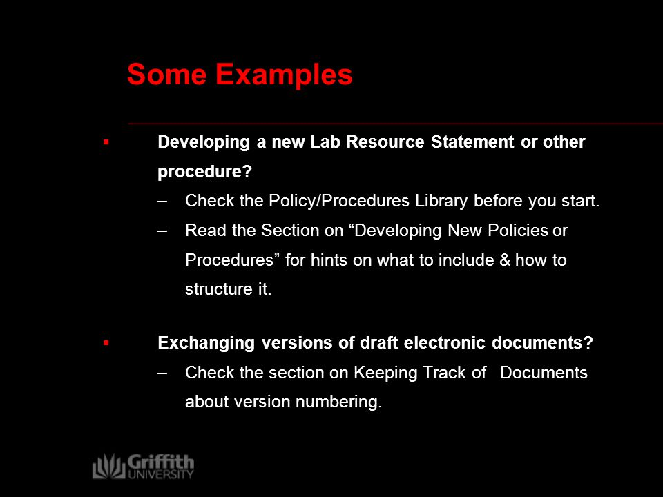 Some Examples  Exchanging versions of draft electronic documents.