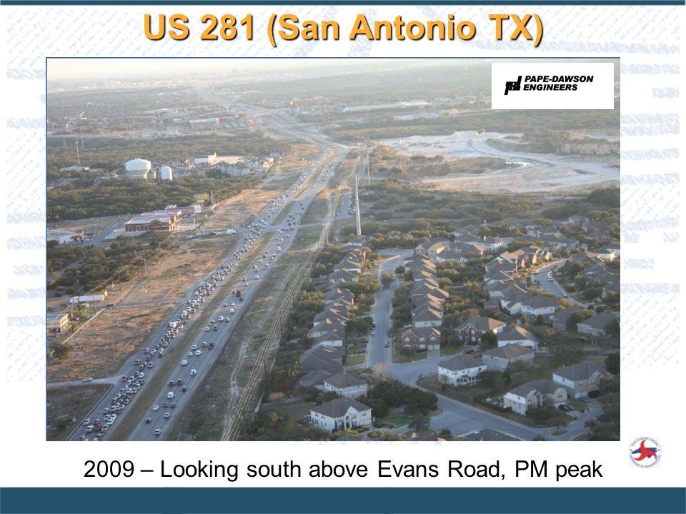 2009 – Looking south above Evans Road, PM peak US 281 (San Antonio TX)
