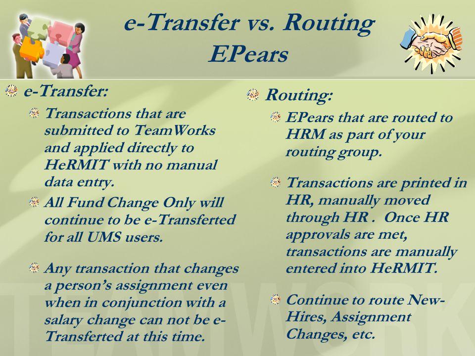 e-Transfer vs.